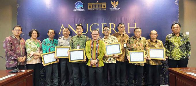 Angkasa Pura mendapat penghargaan manajemen informasi arus mudik 2019