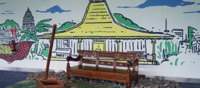 Salah satu spot instagramable di Bandara Soekarno-Hatta