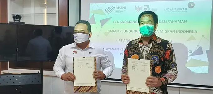 PT Angkasa Pura II (Persero) menjalin kerja sama dengan Badan Perlindungan Pekerja Migran Indonesia (BP2MI) - www.liputan6.com