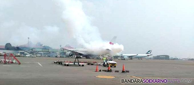 Pesawat China Airlines CI 762 tujuan Taipe mengalami kerusakan di Bandara Soekarno-Hatta - tirto.id