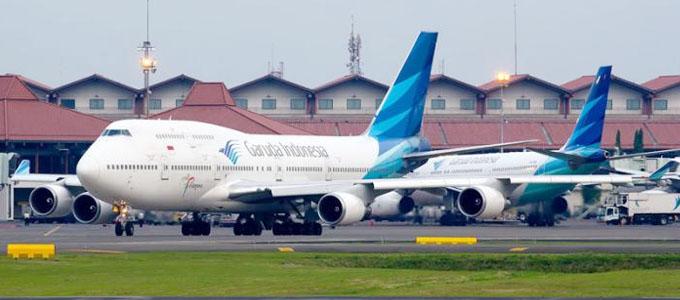 Pesawat Garuda Indonesia di Bandara Soekarno-Hatta - www.tribunnews.com